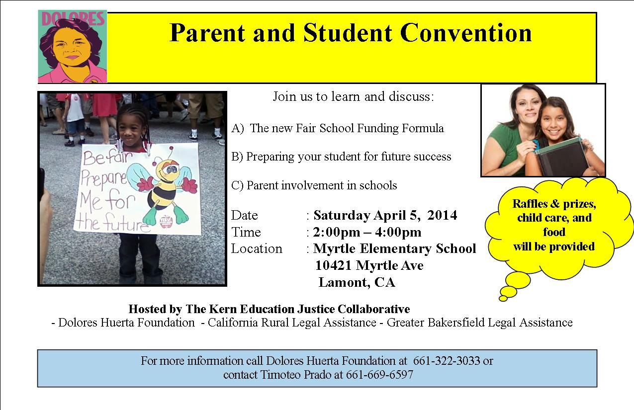 Events: 3rd Parent Student Convention 4/5/14
