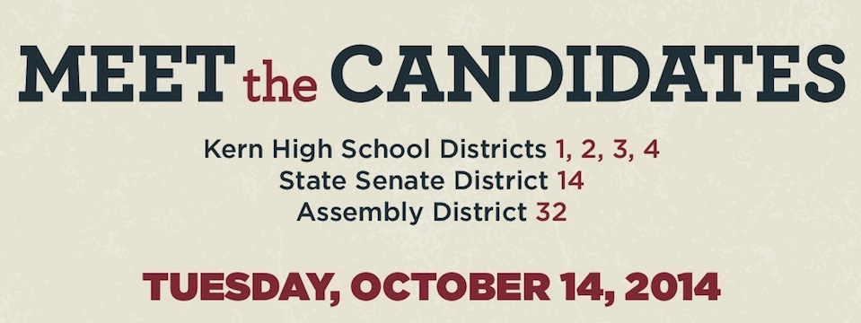 Event: Kern Candidate Forum Tues. 10/14