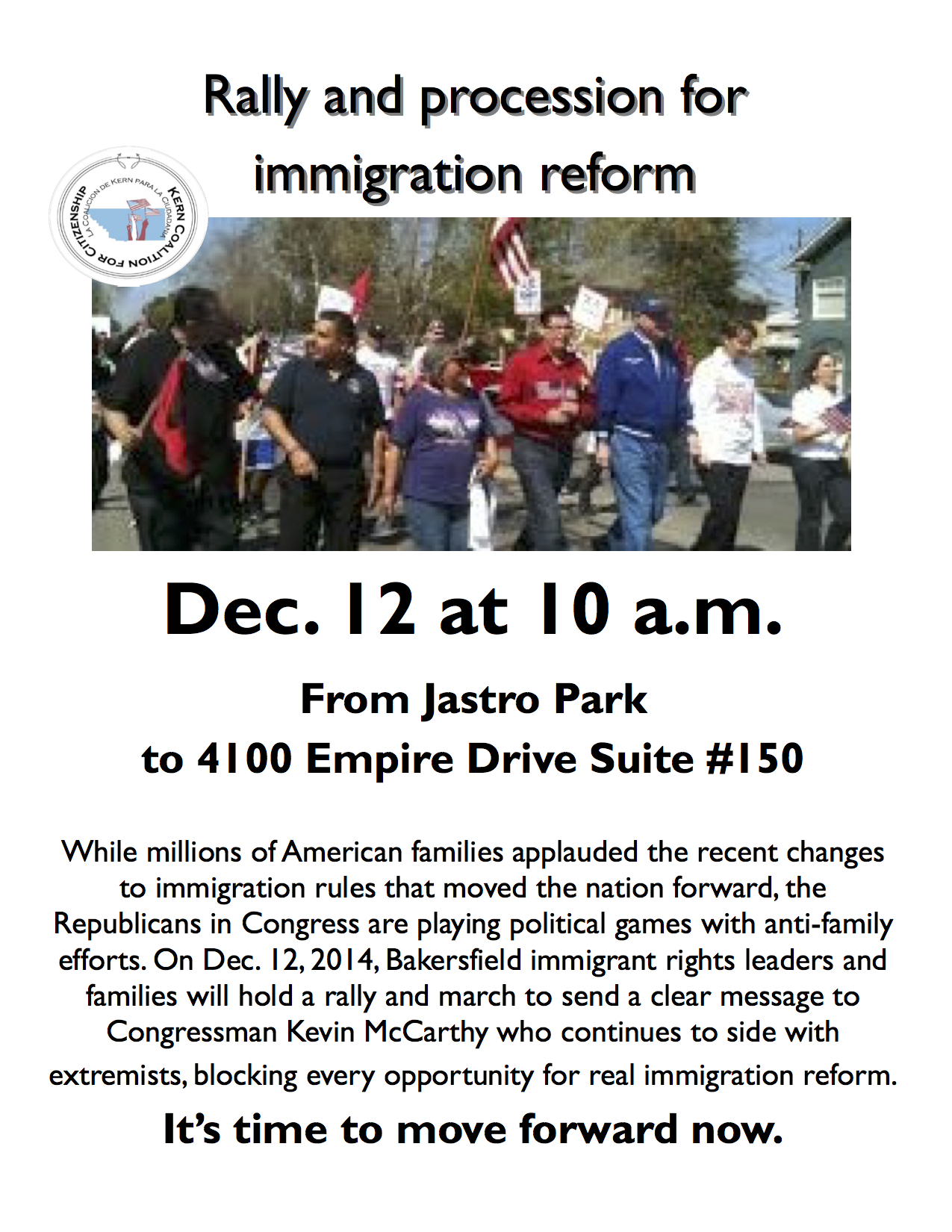 Kern Coalition for Citizenship: Rally and Procession for Immigration Reform