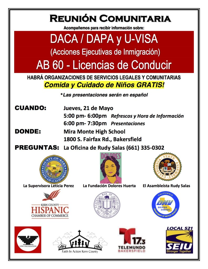 Immigration Forum Flyer 5-15