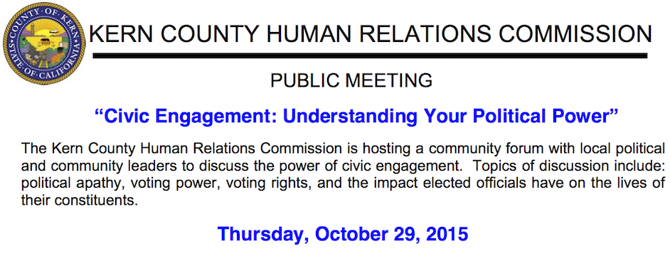 """Event: Camila Chavez, Dolores Huerta Foundation Executive Director, to Address """"Civic Engagement: Understanding Your Political Power"""" 10/29/15, 5:30pm"""