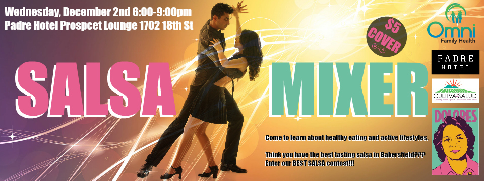 Event: DHF Salsa Dance Mixer and Best Tasting Salsa Contest, Wed. 12/2/15, 6pm