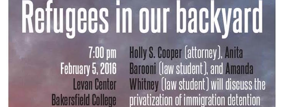 Event: Refugees in Our Backyard, Fri. 2/2/16, 7pm