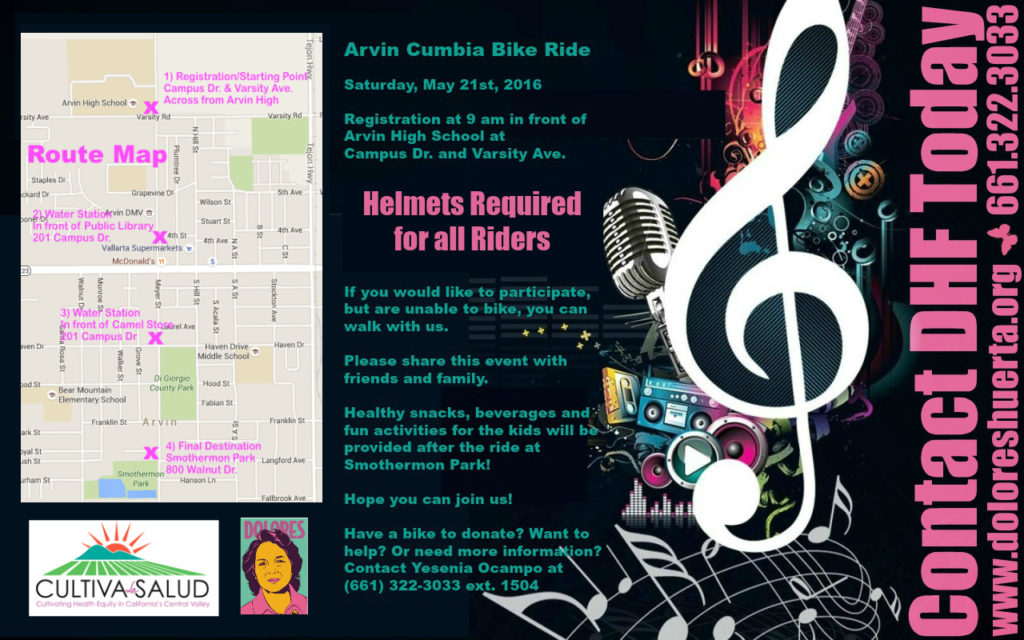 2nd Cumbia Bike Ride Flyer Back Side V2 5-16