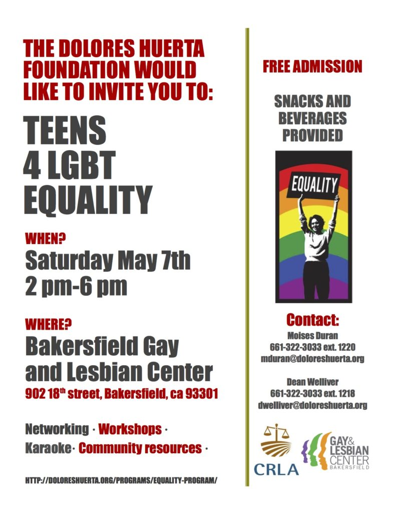 Teens 4 Equality Flyer 5-16