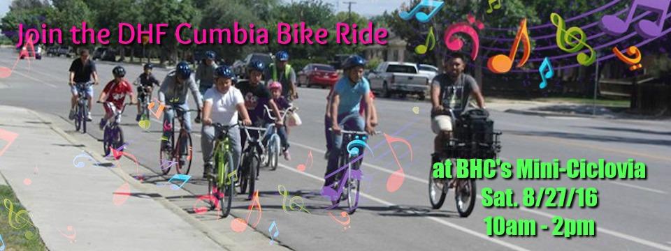 Evento: Paseo de Cumbia en el Celebración Anual Mini-Ciclovía de BHC, sab. 27/8/16, 10am