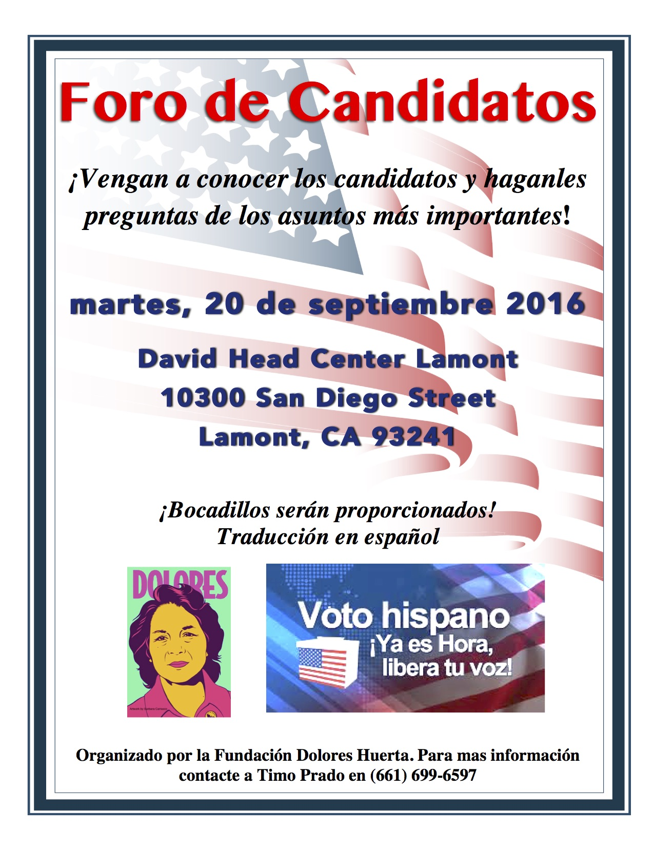 Foro de Candidatos Lamont 9-20-16