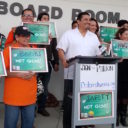 DHF In the News: Dolores Huerta Foundation protests impending KHSD gun vote, 10/3/16