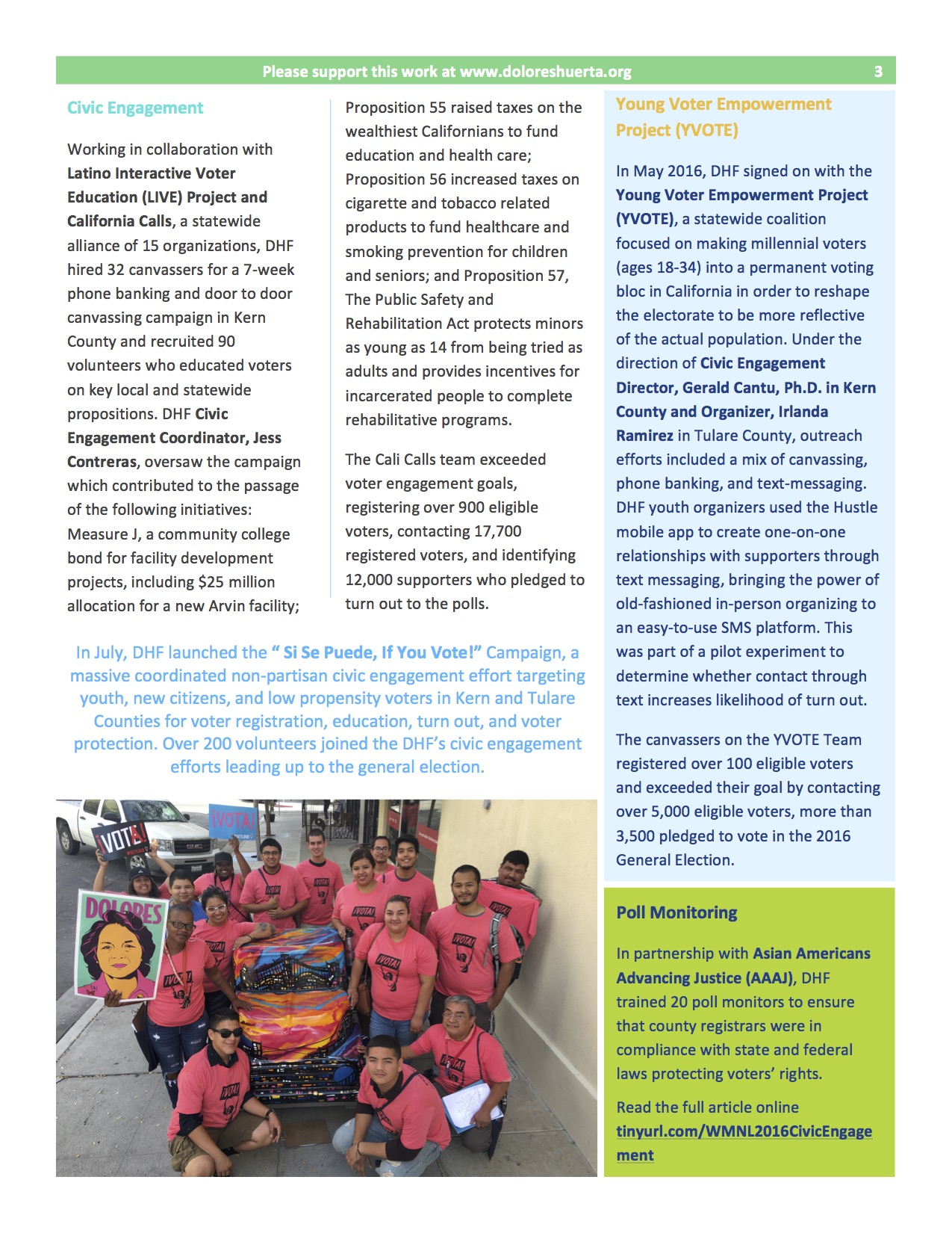 Weaving Movements Newsletter 2016   Dolores Huerta Foundation