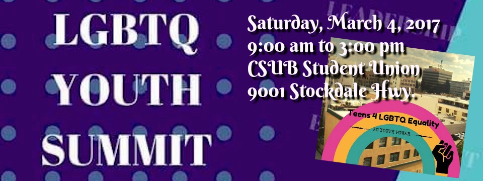Event: 2nd Annual LGBT Youth Summit, Sat. 3/4/17, 9am
