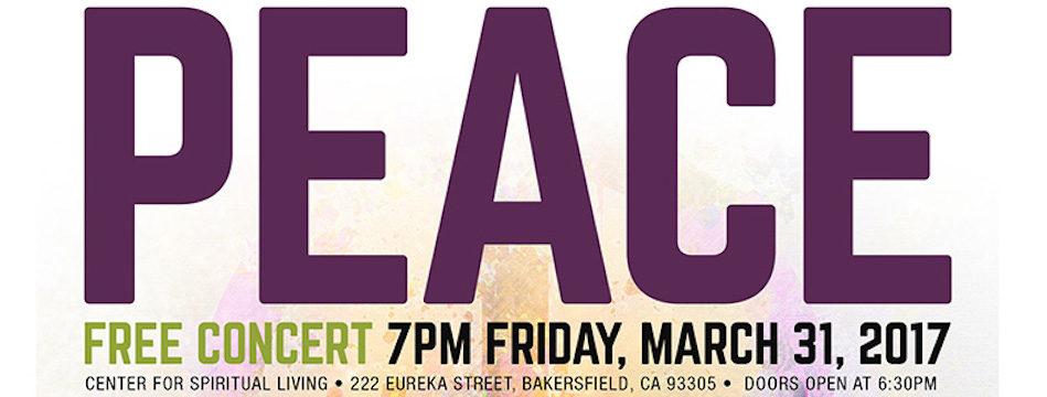 Event: Peace Concert, Fri. 3/31, 7pm