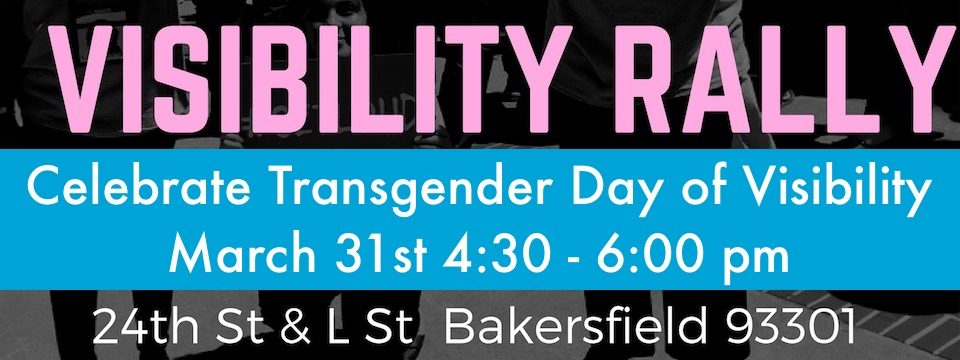 Event: Transgender Day of Visibility Rally, Fri. 3/31, 4:30pm