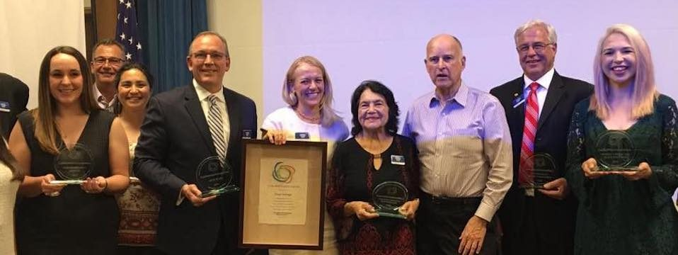 """DHF in Action: Awarded """"California's Foundation of the Year"""" for the 2017 California Governor's Volunteering & Service Awards, 5/2/17"""