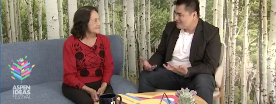 Dolores Huerta in Action: Discussion on the art of activism with Jose Antonio Vargas, Mon. 6/26/17, 12pm