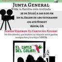 Evento: Vecinos Unidos ARVIN – Junta General Mier. 7/26/17, 6pm