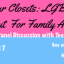 Event: Beyond Our Closets: LGBTQ Youth Speak Out for Family Acceptance, Wed. 10/11/17, 6pm