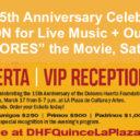 """Event: DHF """"Quinceañera"""" 15th Anniversary at La Plaza, Sat. 3/17/18, 5pm"""
