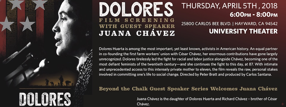 Event: Screening of DOLORES at CSU East Bay, Thurs. 4/5, 6pm