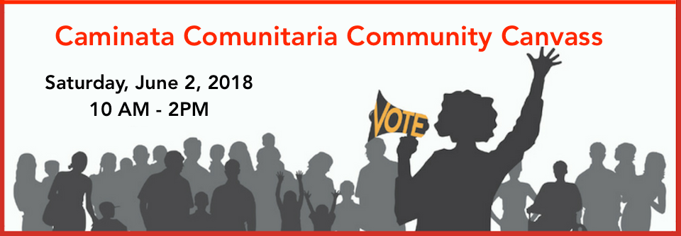 Call to Action: Get Out the Vote Volunteer Walk, Sat. 6/2/18, 10am