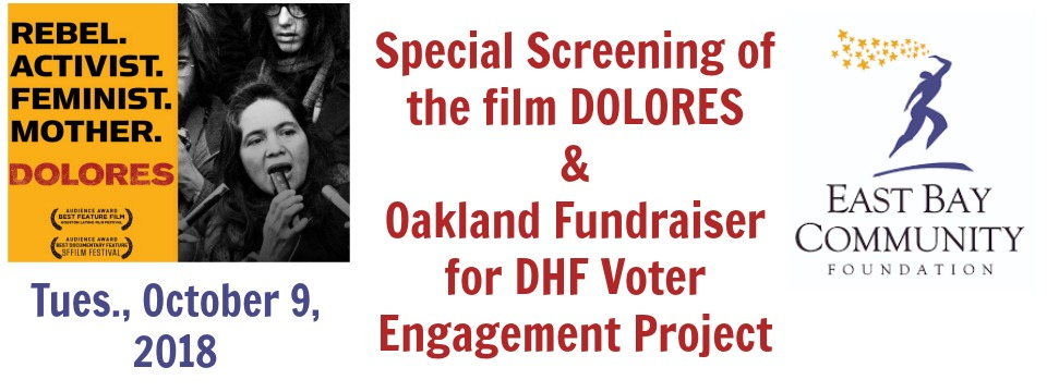 Event: Oakland Fundraiser for DHF Voter Engagement Project, 10/9, 5:30pm