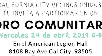 California City Education LCAP Town Hall, 4/24/19, 6pm