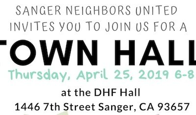 Sanger Education LCAP Town Hall, 4/25/19, 6pm