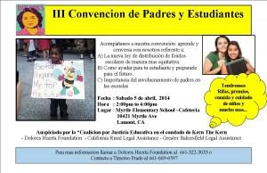 Flyer Parent Convention 4-5-14 SPAN