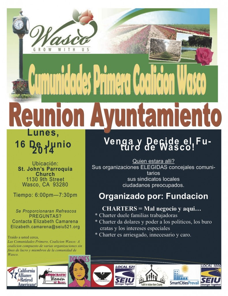 Wasco Flier- SPANISH