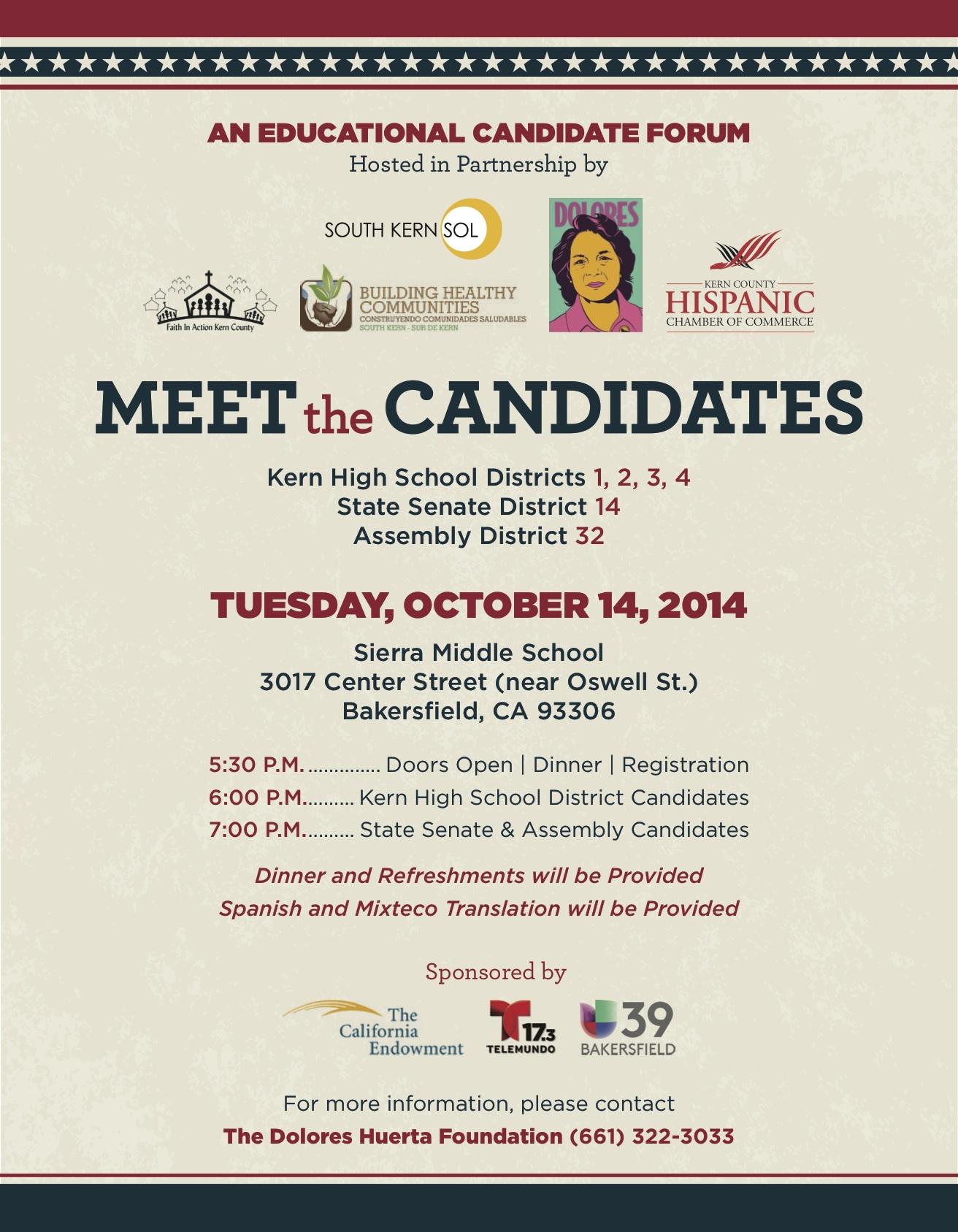 Candidate Forum 10-14 Flier