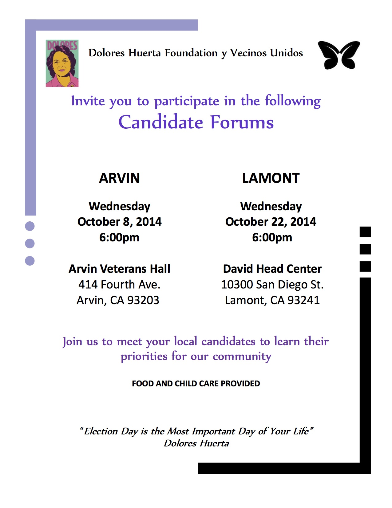 South Kern candidate forum ENG flyer