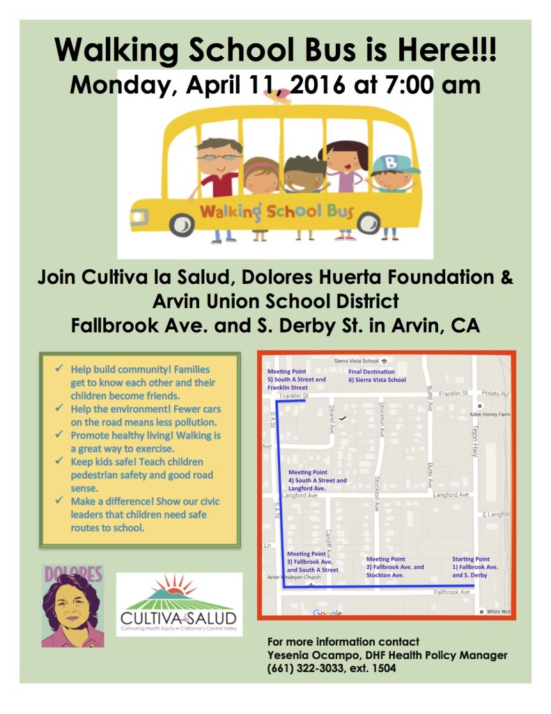 Walking School Bus Flyer English