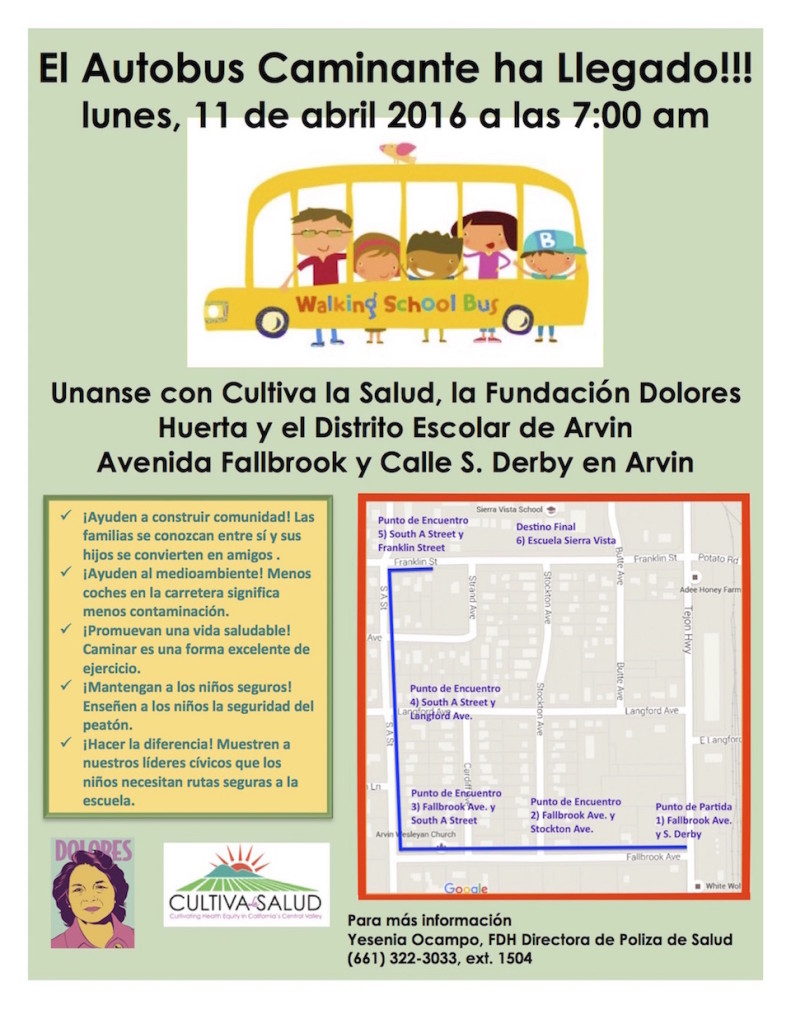 Walking School Bus Flyer Spanish