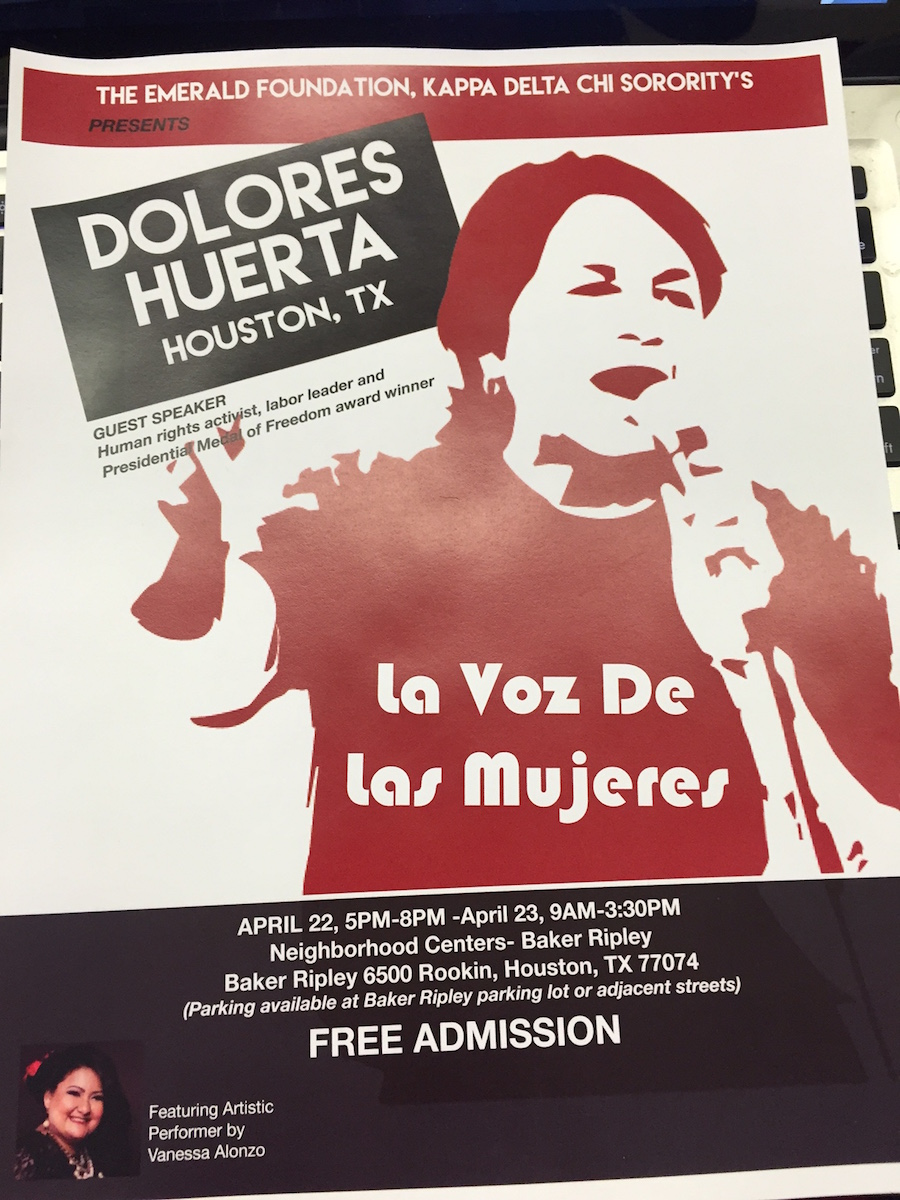 DH in Action: Houston Mayor Proclaims Dolores Huerta Days 4/22 and 4/23