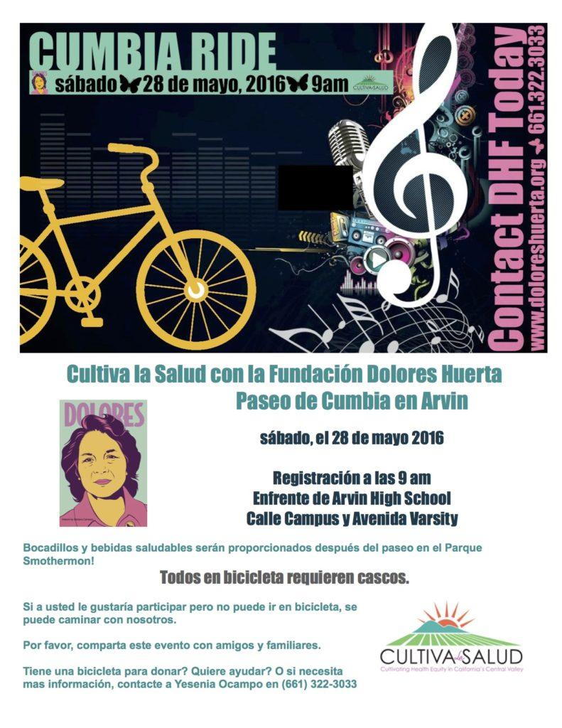 Cumbia Bike Ride Flyer Spanish 5-28-16