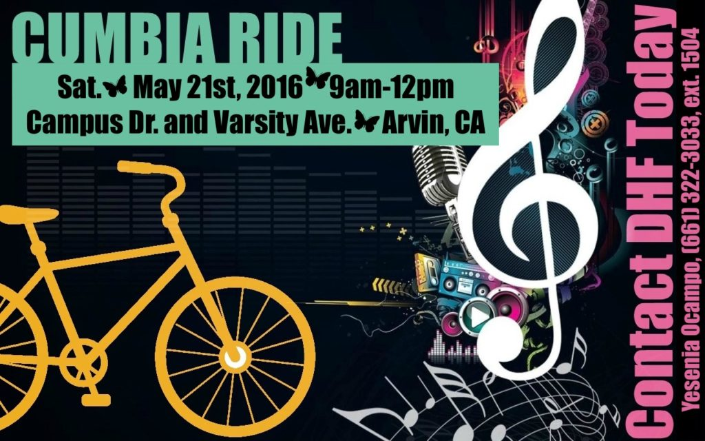 Cumbia Ride Flyer Front Side 5-16