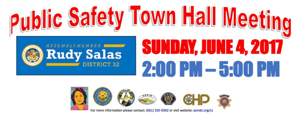 Event – Evento: Public Safety Town Hall Meeting, Sun. 6/4/17, 2pm – Foro de Seguridad Pública, Dom. 4/6/17, 2pm