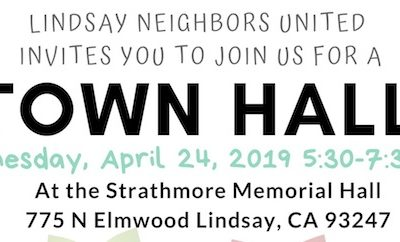 Lindsay Education LCAP Town Hall, 4/24, 5:30pm