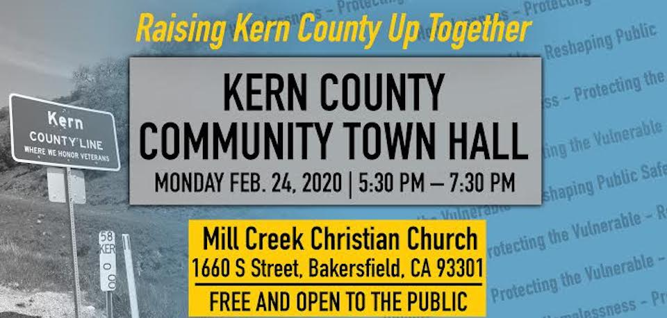 Kern Community Town Hall, Mon. 2/24, 5:30pm