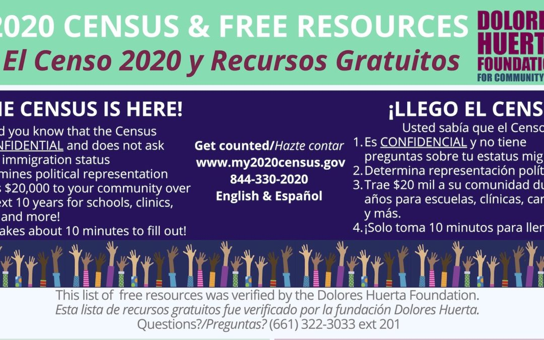 DHF Census 2020 and Covid 19 Resource Guides for Antelope Valley, Fresno, Kern and Tulare Counties