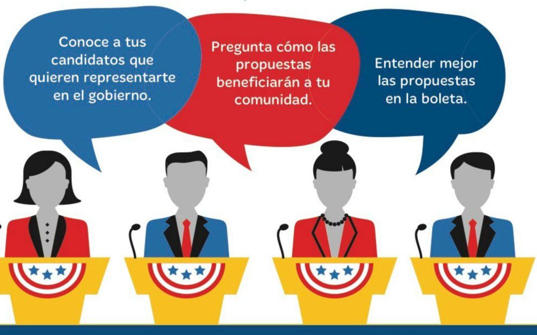 Sanger Candidate Forum, Mon. 10/5, 6pm – Foro de Candidatos Sanger, lunes 5/10, 6pm