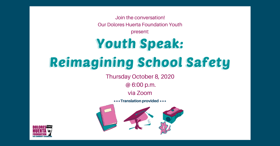 DHF Youth Members Present: Youth Speak: Reimagining School Safety