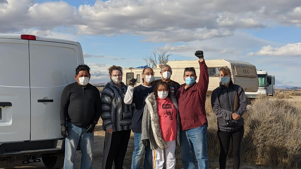 Antelope Valley Vecinos Unidos® partnered with Transplant Brewing to provide coats & PPE to unhoused folks