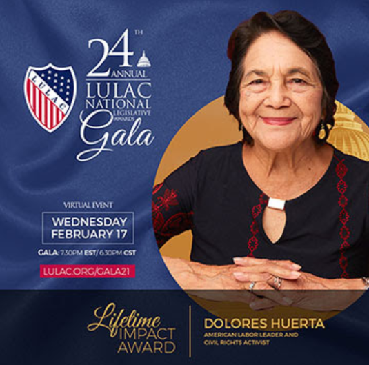LULAC National Legislative Awards Virtual Gala ft. Dolores Huerta