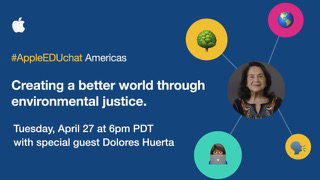 #AppleEDUchat ft Dolores Huerta on Twitter!