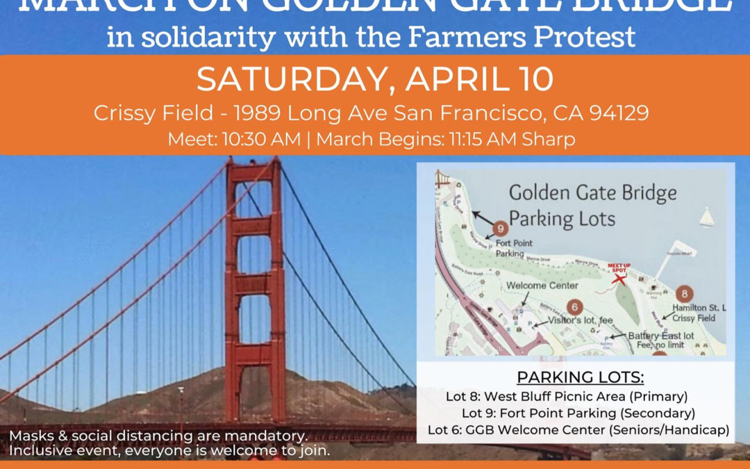 March on the Golden Gate Bridge in solidarity with the Farmer's Protest