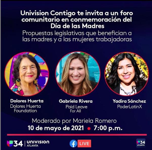 Univision Contigo Dia de las Madres ft Dolores Huerta