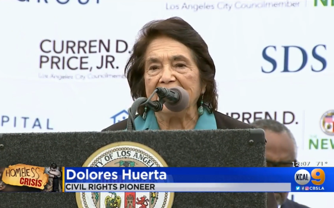 'A Model For The Rest Of The Country': Civil Rights Pioneer Dolores Huerta Breaks Ground On Namesake Apartments